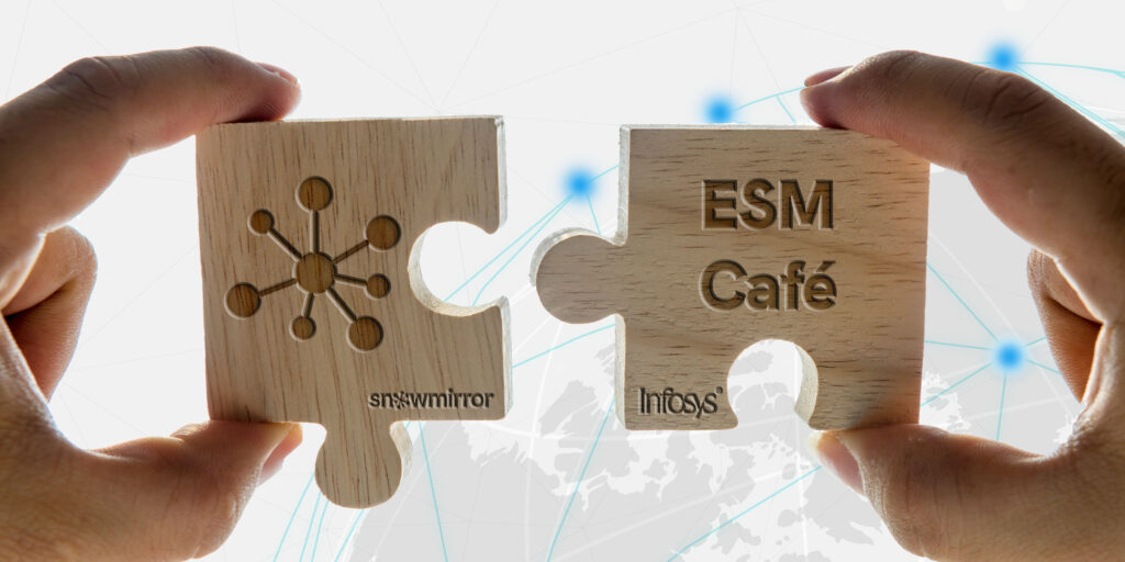 SnowMirror is now offered as part of Infosys' Enterprise Service Management Cafe.